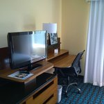 TV and Desk in Bedroom