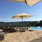 Pool terrace outside Belvedere Restaurant