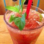 Sommerdrink Limette Erdbeere