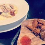 Carbonara and Chicken Strips