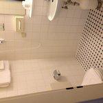 The bathroom needs some repair