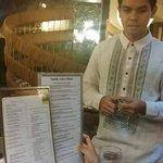 Server in Barong Tagalog