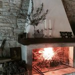 fireplace in common area