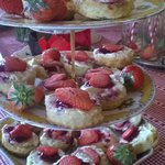 delicious scones for vintage tea party
