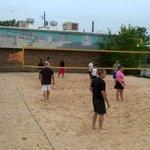 Beach volleyball inland