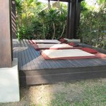 thai massage, outside on the beach