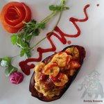 Baingan Jhinga,a chef special starter