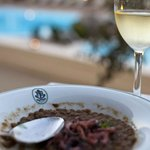 Lovely food by the pool, 2nd course (this was an exception to the rule of eating in the restaura