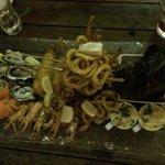 Massive seafood platter! Yum yum