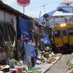 Railway market south of Bangkok