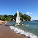 Dinghy sailing with some malawi expertise