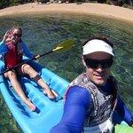 Kaya Mawa-kayaking on the clear water of Lake Malawi