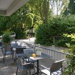 Terrasse Fruehstuecksraum