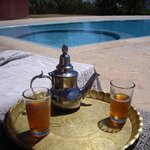 Mint tea by the pool