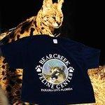 African Serval with a Bear Creek Souvenir t-shirt