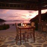 Restaurant overlooking beach