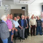 Solent male voice choir, impromptu songs for staff