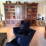 Lounge area of townhouse suite