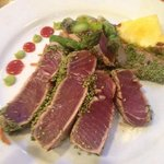 Wasabi-Sesame crusted tuna!