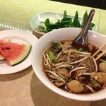 Boat noodle with pork - interesting experience!