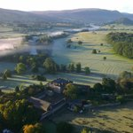 Dalemain taken from a hot air balloon