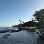 from hotel beach looking towards public beach area
