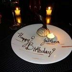 Birthday suprise from Restaurant