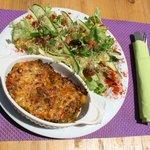 Gratin de légumes/Salade