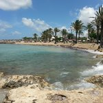 View from the beach at the rear of the hotel - looking towards Paphos