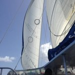a shot of the sail