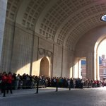 View in Menin gate, preparations underway for the Last Post Ceremony