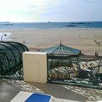 Balcon sur mer bâtiment ancien