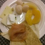 Breakfast from the buffet. Very nice.