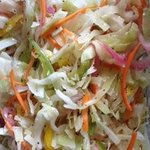 I added a few more veggies to my slaw, but theirs was just as pretty. ;)