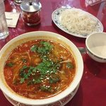 Hot and Sour soup with noodles. Many happy flavors abound!