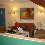 Private suite sitting area