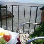my 3 year old enjoying the salad