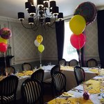 Dining room set for mums 70th.