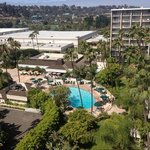 Day view of the pool from the Towers room 1030