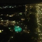 View of the pool from the Towers room 1030 at night