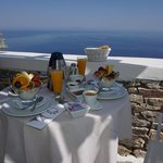 Delicious breakfast, beautiful view