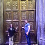 Birthday boy opening the doors to the Great Hall!  ⚯͛