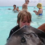 Kisses with the Stingrays- remember years of good luck!