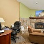 Lobby Business Center and Fireplace