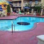 The guitar-shaped pool