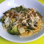pasta peccorino y verduras