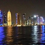 Beautiful view of Doha city from the boat