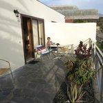 Blick auf die Terrasse/Balkon
