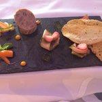 Ham hock terrine and pickled vegetables