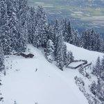 snow on way to Hungerburg